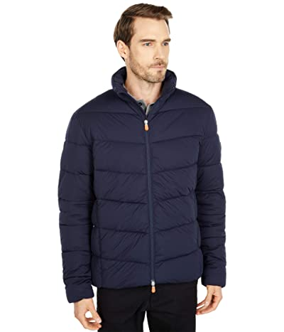 Save the Duck Sealy Hooded Stretch Puffer Jacket (Blue/Black) Men