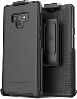 Encased Belt Case for Galaxy Note 9, Ultra Slim Protective Hard Cover with Holster Clip for Samsung Note 9 Phone (Slimshield Series) Smooth Black