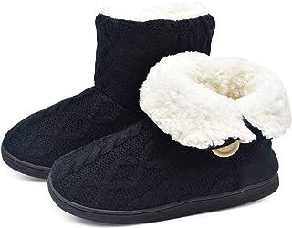 ONCAI Chausson Pantoufles Femmes Chaudes d'hiver Chaussures De Maison des Madame Doublure en Fourrure