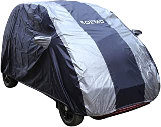 AmazonBrand - Solimo Tata Nano Water Resistant Car Cover (Dark Blue & Silver)
