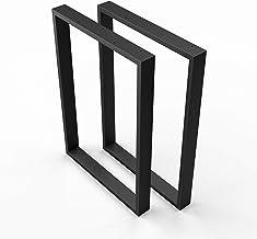 sossai® stalen tafellopers | Kleur: zwart | 2 stuks | Tafelframe | Breedte 70 cm x hoogte 72 cm | TKK1 | Roestvrij staal, ...