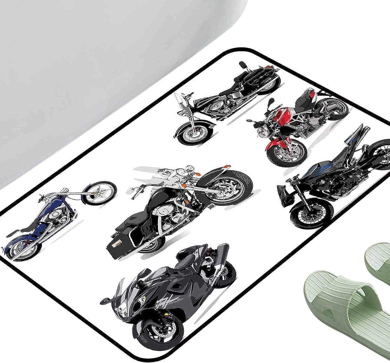 excellence Selling rankings Doormat Bath Mats Foot Pad Motorcycle Unique Original