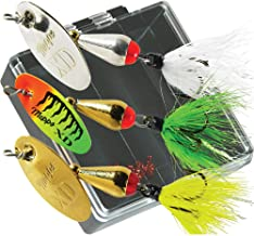product image for Mepps KXD-B-D Bass Pocket Pac Features Three Hackle Dressed 3 (1/4 oz.) XD's.