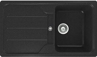 Schock Formhaus D-100 A Onyx Granitspüle Schwarz Auflage Küchenspüle Einbau