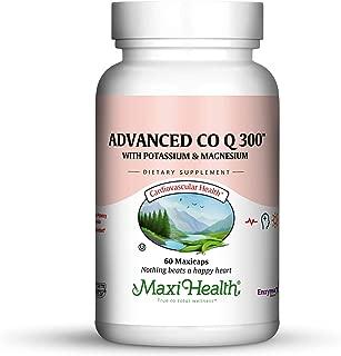 Maxi Health Advanced CO Q10 300 - Coenzyme Q10 - with Potassium & Magnesium - 60 Capsules - Kosher