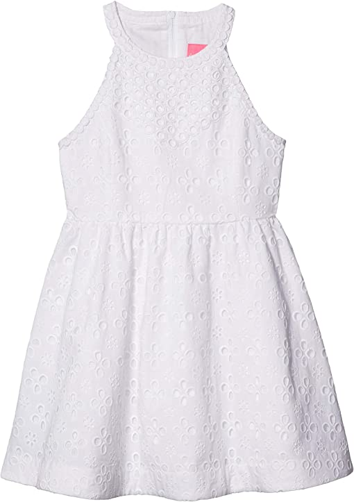 Resort White Floral Cross Eyelet