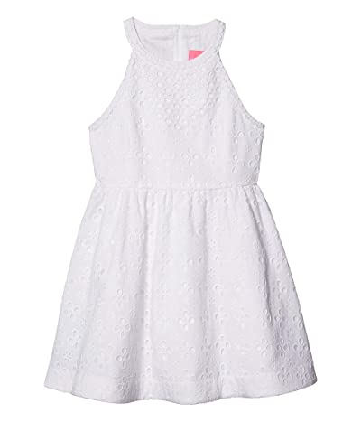 Lilly Pulitzer Kids Little Kinley Dress (Toddler/Little Kids/Big Kids) (Resort White Floral Cross Eyelet) Girl