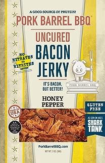 Pork Barrel BBQ Honey Pepper Uncured Bacon Jerky