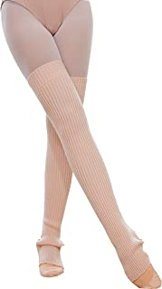 "29.5"" 75CM Stirrup Yoga Pilates Ballet Dance Accessoires Leg warmers Over Knee High Knit Leg Warmers Stocking Socks"