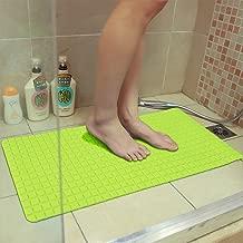 "Story@Home Rectangular PVC Anti Slip Anti Skid Bathtub Shower Floor Bath Mats Mildew Resistant with Strong Mosaic Suction Cups, 14""x31"", Neon Green"
