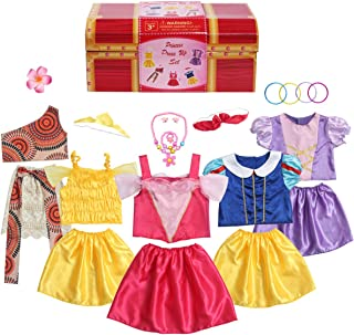 BiBiblack Girls Princess Costume Dress up Trunk for Kids Ages 3-6 Years