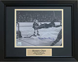 Bobby Orr Boston Bruins Autographed 1970 Stanley Cup Dive Signed 8x10 Framed Hockey Photo Great North Road COA