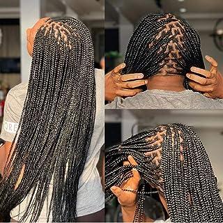 Pre Stretched Braiding Hair Knotless Braids Hair 8 Bundles Hot Water Setting Easy Braid for Senegalese Twist Crochet Braid...