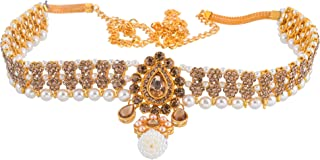 Sanjog Embellished Multi-Color Stone Gold Plated Kamarband Belly Chains for Women/Girls (LCT)