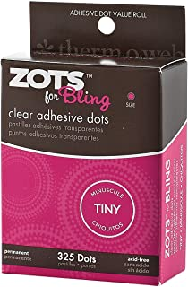 "Zots Clear Adhesive Dots-Bling Tiny 1/8"" 325 per Pack (Pack of 3)"