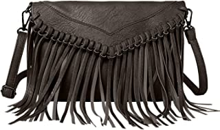 Women PU Leather Hobo Fringe Crossbody Bags Tassel Purse Phone Wallet Shoulder Bags Handbag Clutch Purse