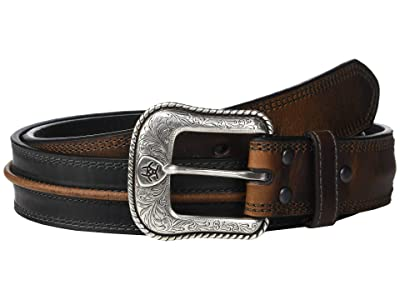 Ariat Two-Tone Center Cord Belt (Black/Brown) Men