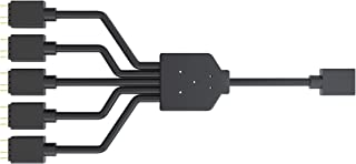 Cooler Master ARGB 1-to-5 Splitter Cable, 3-Pin LED Connector, 58 cm, MFX-AWHN-1NNN5-R1