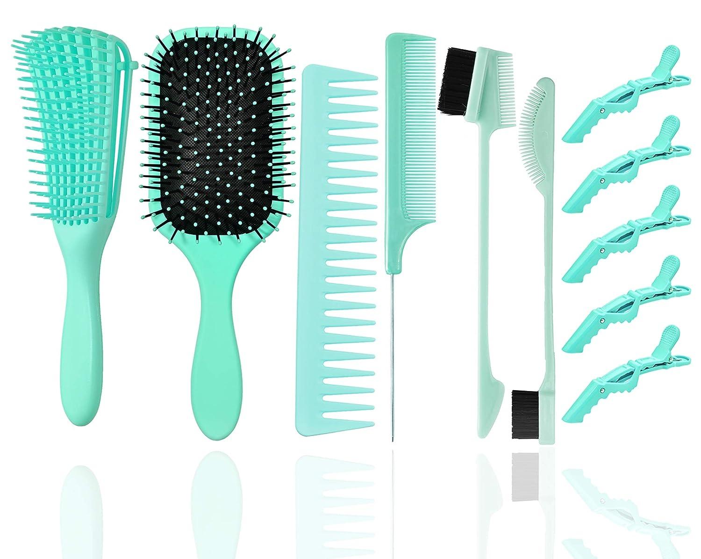 fani 6 Pcs Detangling Brushes Set Boston Mall HairBrush Popular popular with Soft Flexy B