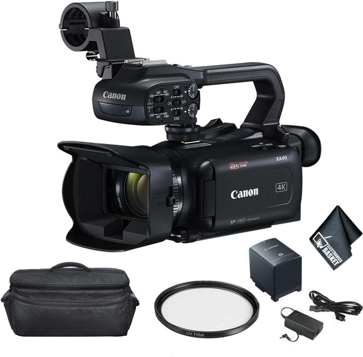 Canon free XA40 Professional UHD 4K Video Mini-HDMI In stock Camcorder - Outpu