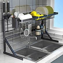LZLYER Keuken Opslag Rekken Opslag Servies Handdoeken Lunch Dozen Kleding Roestvrij Staal Schotel Droger Rack Over Sink Me...