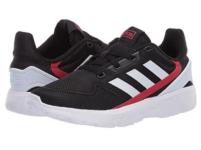 adidas Kids Nebzed (Little Kid/Big Kid) (Core Black/Footwear White/Scarlet) Kid