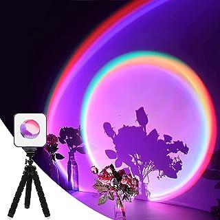 Sunset Projection Lamp, RGB Video Light, LED Camera Light 360° Full-Color,2000mAh Rechargable, Magnet Adsorption,salipt Ni...