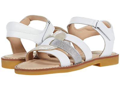 Elephantito Grecian Sandal (Toddler/Little Kid/Big Kid) (White) Girl