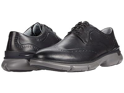 Johnston & Murphy Tanner Wing Tip (Black Full Grain Leather) Men