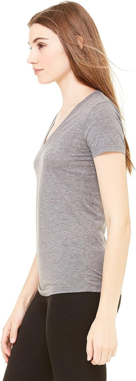 Bella B6035 Canvas Ladies Jersey Short-Sleeve Deep V-Neck T-Shirt