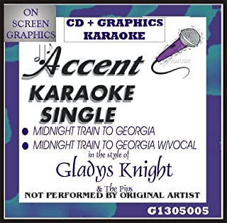 Accent Karaoke CD+G Single Midnight Train To Georgia by Gladys Knight