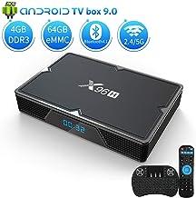 Android 9.0 TV Box 4GB RAM 64GB ROM, KMCBOX X96H Android Box Allwinner H603 Quad-Core..