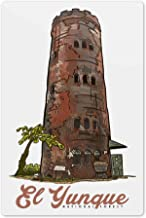 Lantern Press Puerto Rico - Yokahu Observation Tower - El Yunque National Forest 75437 (6x9 Aluminum Wall Sign, Wall Decor Ready to Hang)