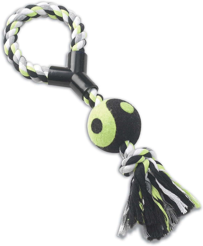 Petrageous Pet Toy Karmarope, 14Inch Loop Tug with Tennis Ball