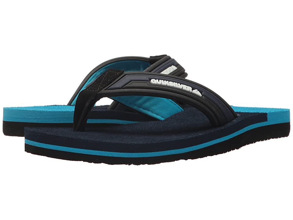 Quiksilver Kids Molokai New Wave Deluxe (Toddler/Little Kid/Big Kid) (Black/Blue/Blue) Boys Shoes