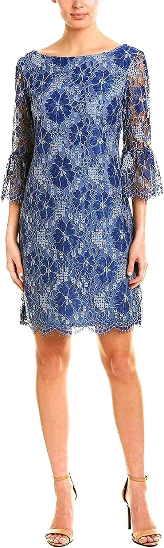 Jessica Howard Plus Size Womens Flutter Sleeve Shift Dress
