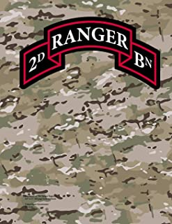 """2nd Battalion 75th Ranger Regiment 8.5"""" x 11"""" 200 page lined notebook"""