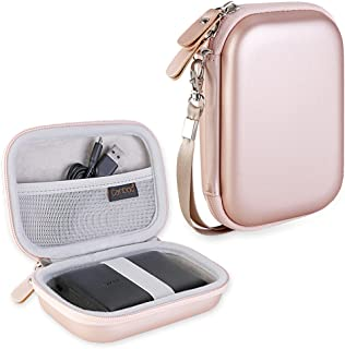 Canboc Shockproof Hard Carrying Case for Anker PowerCore 13000 Portable Charger - Compact 13000mAh 2-Port Ultra Portable Phone Charger Power Bank External Battery Storage Travel Box, Rose Gold