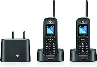 Motorola O212 DECT 6.0 Long Range Cordless Phone, Water & Dust Resistant, IP67 Certified, Black, 2 Handsets photo