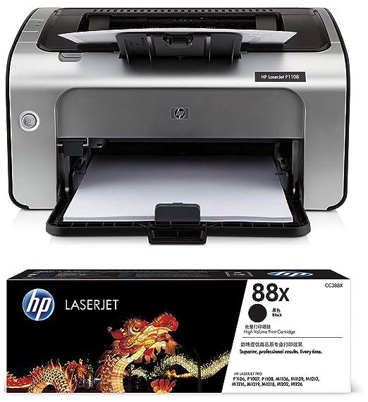 HP Laserjet P1108 Single Function Monochrome Laser Printer   HP 88X Toner  Black  Laser Printers