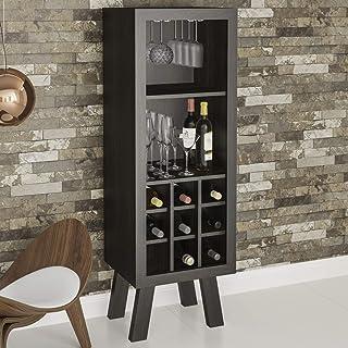 Tecnomobili Wine Rack, Brown, 135 x 45 x 38 cm