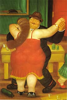 Fernando Botero - Couple Dancing, Size 16x24 inch, Gallery Wrapped Canvas Art Print Wall décor