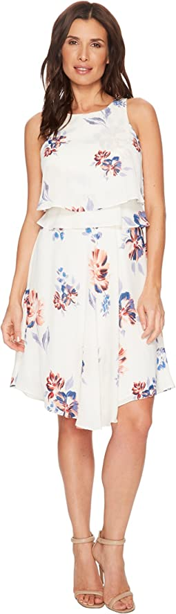 Ivanka Trump Georgette Sleeveless Popover Dress