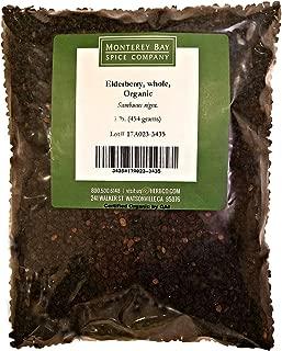 Elderberries CERTIFIED ORGANIC 1 LB Bag – Whole 100% NATURAL (Sambucus nigra)