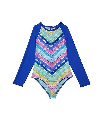 Hobie Kids Festival Tie-Dye Long Sleeve Swimsuit (Big Kids)