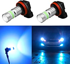 Alla Lighting H16 LED Fog Lights Bulbs 8000K Ice Blue 2800lm Xtreme Super Bright COB-72 12V H11 H8 Replacement