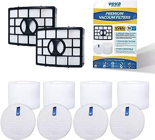 VEVA Premium Vacuum Filter Set with 2 HEPA, 4 Foam, 4 Felt Filters for Shark Rotator Navigator Duoclean Lift-Away Upright Model NV650, 650W, 651, 652, 750W, 751, 752, 831, 835; AX950, 951 & 952