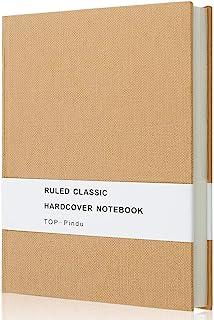TOP-Pindu ノートA5日記、厚いクラシックノート、大型ハードケース、296pp、80gsm、8.4 x 5.7インチ