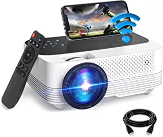 VicTsing Mini Projector, 6000L WiFi Movie Projector, 1080P Video Portable Home Theater Projector, Compatible with TV, AV, ...