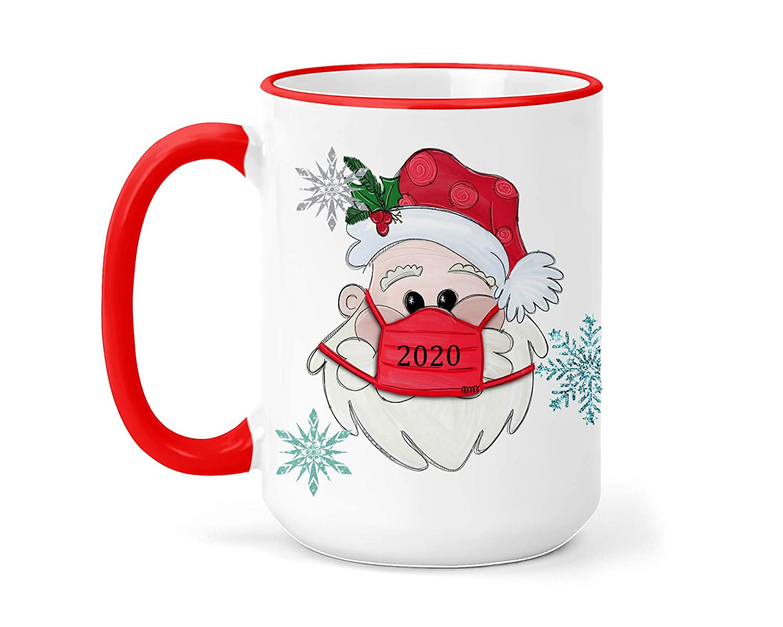 2020 free shipping Christmas Mug - 15oz On Mail order with Santa Mask Cup